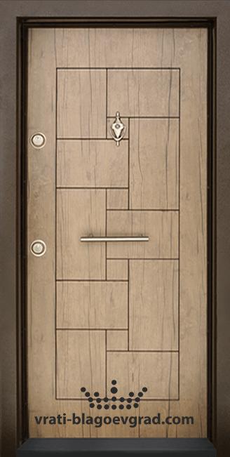 Блиндирана входна врата, модел Т100 Антик