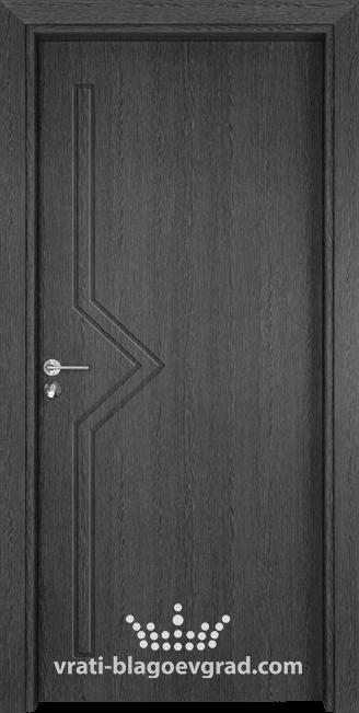 Интериорна врата Гама 201p Сив кестен