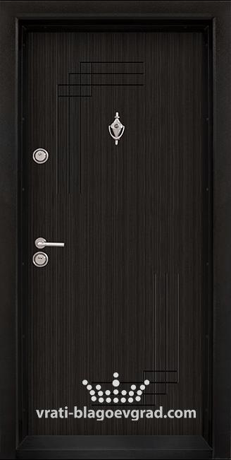 Блиндирана входна врата, модел Т111 Черна перла