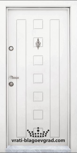 Блиндирана входна врата, модел Т-712 Бял